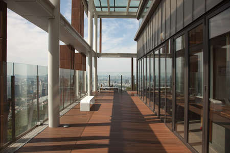 Modern interiors and panoramic views from the N Seoul Tower, South Korea Редакционное