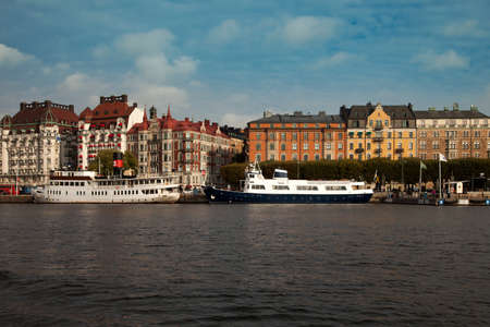 Waterways, boats and beautiful old buildings in Stockholm, Sweden