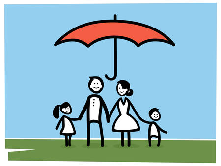 Illustration representing life insurance concept.