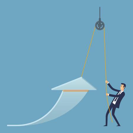 Business Progress Vector Illustration Stock Illustratie