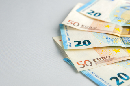 Euro banknotes fan