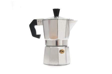 Italian coffee maker isolated