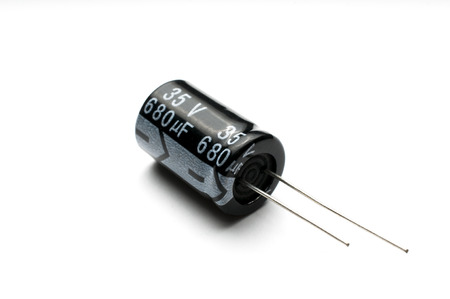 Electrolytic capacitor isolated 写真素材