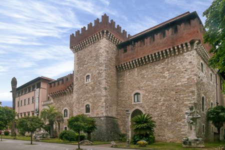 The Cybo Malaspina Castle in Carrara, home of the Academy of Fine Arts Stock Photo