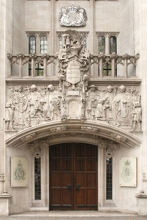 London, Uk - October 26,2014 - The entrance to the Supreme Court of London, Westminster