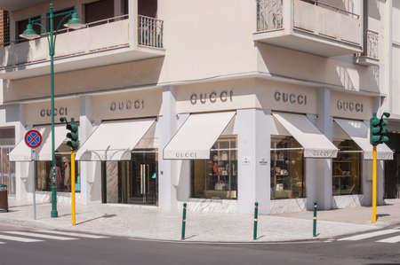 Forte dei Marmi, Italy - August 4, 2020 - Gucci fashion store in Tuscany, Italy