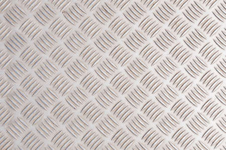 Aluminum checker plate floor texture and background