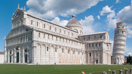 Pisa cathedral and the world famous leaning tower