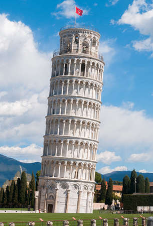 View of Pisa: the world famous leaning tower