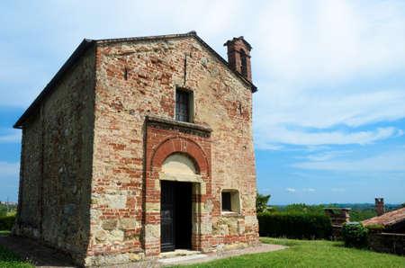 romanesque: SantAndrea di Casaglio, romanesque church in Cerreto dAsti, Italy