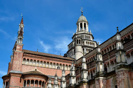 chartreuse: PAVIA, ITALY - JUNE 12, 2016 - The chartreuse of Pavia on june 12, 2016. The chartreuse is an important example of renaissance religious architecture Editorial