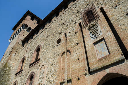 piacenza: PIACENZA, ITALY - AUGUST 14, 2016 - Medieval castle of Grazzano Visconti, near Piacenza, Italy, with neo-gothic renovations, on august 14,2016. Editorial