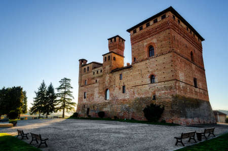 Castle of Grinzane Cavour,  in the hills of Langhe (Piedmont, Italy). The castle was the home of Camillo Benso, count of Cavour Editorial