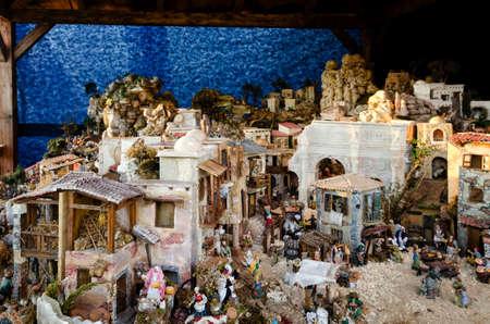 presepe: great italian nativity scene Stock Photo