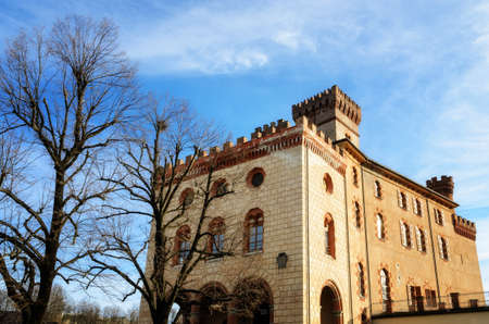 The castle of Barolo (Piedmont, Italy) on a sunny day