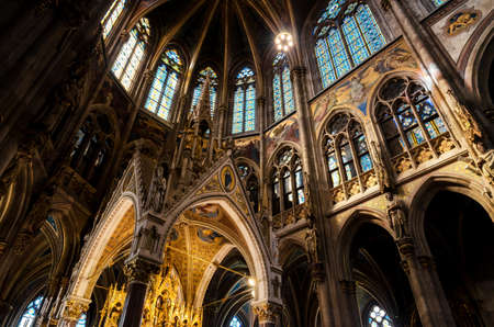 Interior of the famous neo gothic Votivkirche (Votive Church) in Vienna, build by archduke Ferdinand Maximilian after the failed assassination attempt of his brother, Emperor Franz Joseph Editorial