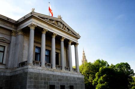 Austrian Parliament Building in Vienna (Austria)