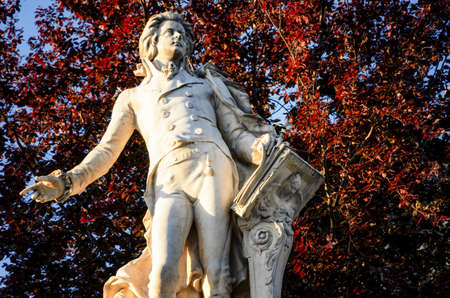 Burggarten, 비엔나 (오스트리아)의 공공 공원에서에서 Wolfang Amadeus 모차르트의 메모리에 기념물