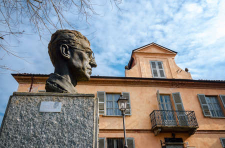SANTO STEFANO BELBO, ITALY - FEBRUARY 21, 2018: Home and birth place of Cesare Pavese, famous italian poet and writer of the XX century, in Santo Stefano Belbo (Italy) on february 21, 2018. Editorial