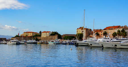 Arrival by boat to the Port of Ajaccio