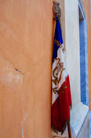 French flag on the streets of Ajaccio Stock Photo