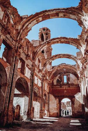 Interiors of the convent of San Agustin de Belchite Stock Photo