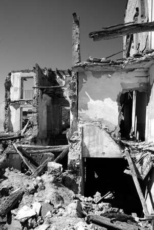 Ruined house in the old town of Belchite