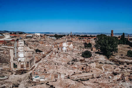 Panoramic view of the town of Belchite
