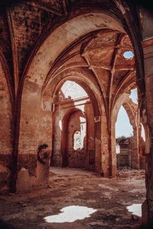 Interior church of San Martin de Tours in Blechite