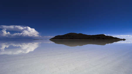 mirror on the water: paradise island mirror water reflexion Stock Photo