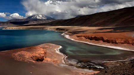 laguna verde lake near Ojos del Salado vulcano, Chile