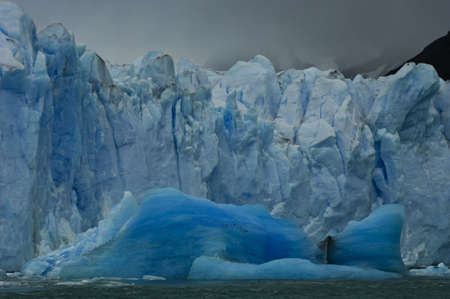arctic landscape: blue iceberg falled out from Perito Moreno glacier on lake Argentino,patagonia argentina Stock Photo