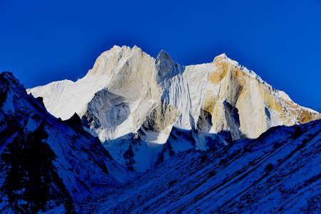 east face of mount Meru (6660 meters), Gharwal Himalaya mountains, Uttarakhand (Uttaranchal), India