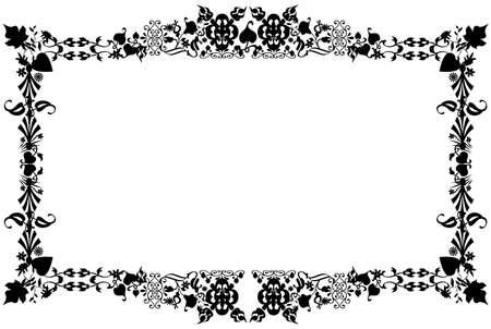 Floral blank frame photo