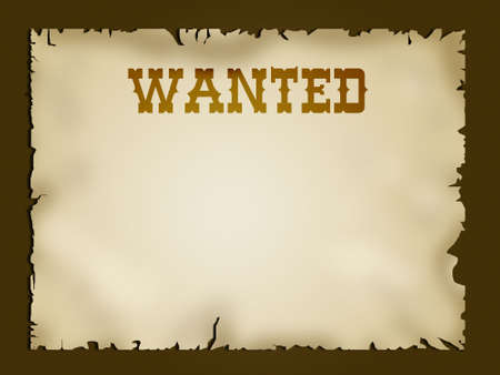 Old looking western paper with the world Wanted and copyspace Stock Photo - 619567