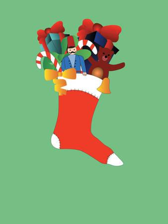 Christmas socking Vector