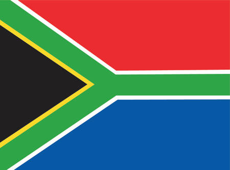 south africa flag: South Africa flag illustration