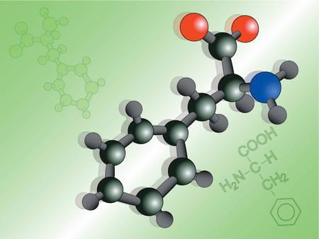 3d aminoacid molecule Vector