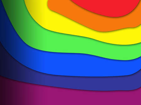 Rainbow background with seven areas of different colors Standard-Bild