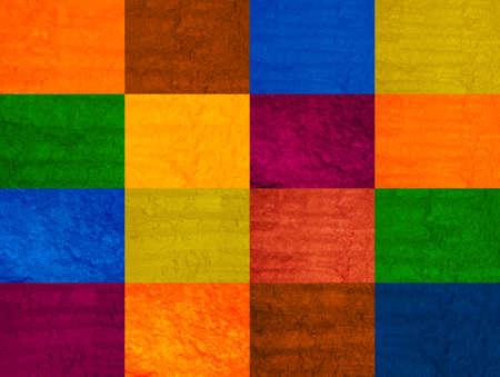 Various colors checkered background with texture