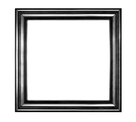 Simple wooden frame with copyspace isolated on white backdround