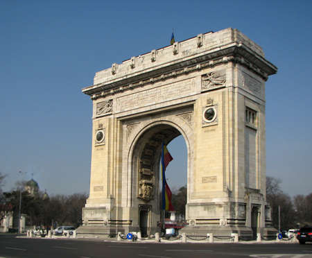day time: Arch of Triumph, Bucharest, Romania by day time