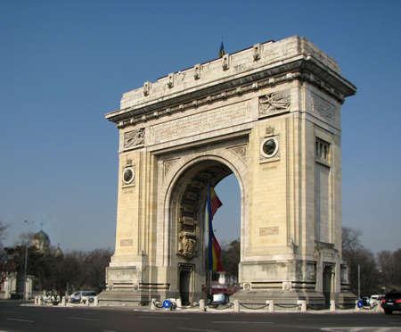 bucarest: Vo�te de triomphe, Bucarest, Roumanie par temps de jour