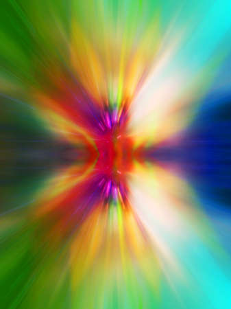 Abstract colourful explosion background with rays of light Stock Photo - 6486266
