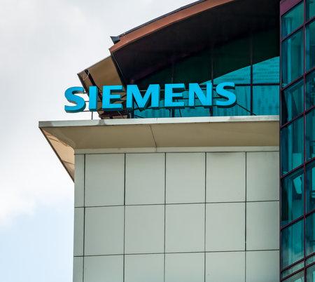 Brasov/Romania - 06.28.2020: Siemens logo on a office building in Brasov city. Editorial