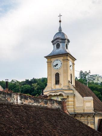 Brasov/Romania - 06.28.2020: Saint Peter and Paul Church (Biserica SfinÈ›ii Apostoli Petru È™i Pavel) in Brasov, Romania.