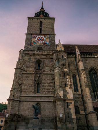 Brasov/Romania - 06.28.2020: The black church (Biserica Neagra) located in the center of Brasov. Famous tourist attraction.