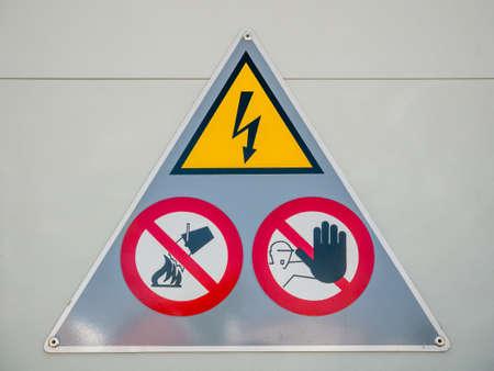 High voltage electrical hazard sign