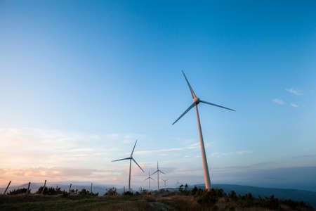 windfarm: Windfarm in Monterenzio, Italy Stock Photo