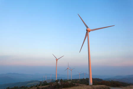 windfarms: Windfarm in Monterenzio, Italy Stock Photo